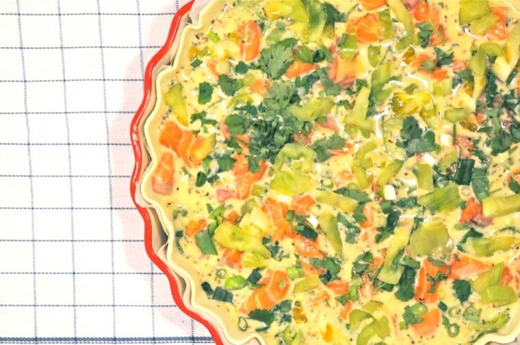salmon zucchini tart