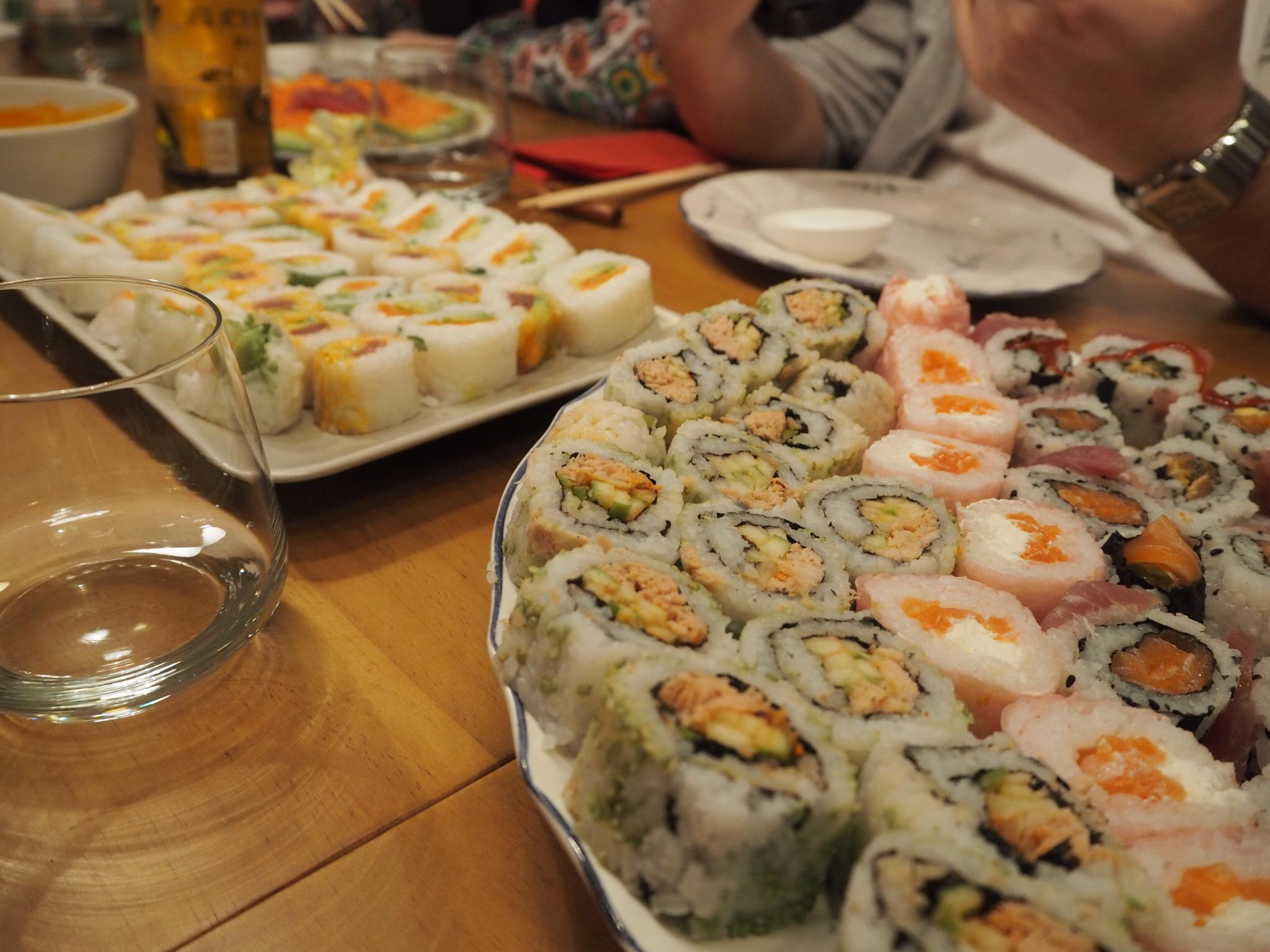 maki salmon tuna diy sushi